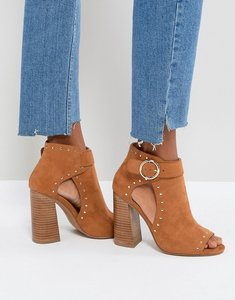 Read more about Asos tamara studded high heeled shoe boots - tan