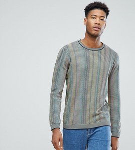 Read more about Asos tall rainbow striped jumper - multi