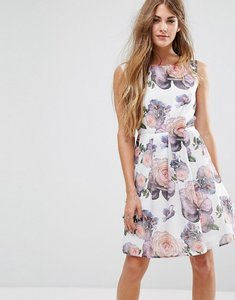 Read more about Yumi wild rose skater dress - white