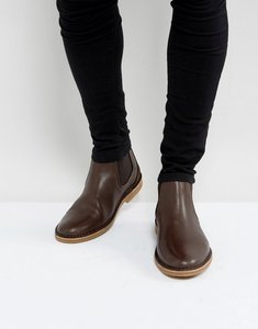 Read more about Selected homme royce leather chelsea boots in brown - brown