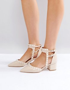 Read more about Raid mia pearl pointed heeled shoes - nude