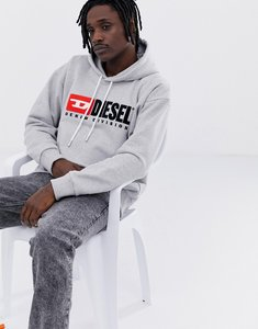 Read more about Diesel s-division pullover hoodie in grey