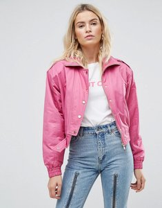 Read more about Asos 80 s bomber jacket in hot pink - pink
