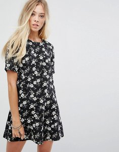 Read more about Glamorous tea dress in grunge floral - black