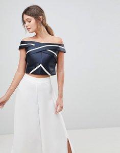 Read more about Coast evie stripe bardot top - black white