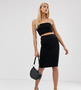 Read more about Asos design tall high waisted pencil skirt - black