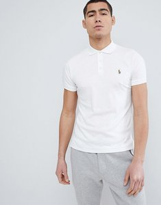 Read more about Polo ralph lauren slim fit pima soft touch polo multi player in white - white
