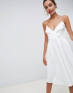 Read more about Asos design tux button midi prom dress - ivory