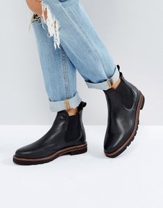 Read more about Dune london quart leather chelsea boots - black-leather