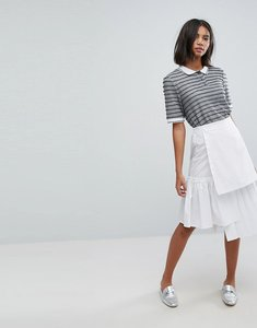 Read more about Lost ink pleated skirt - white