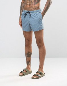 Read more about Asos swim shorts in blue acid wash short length - blue