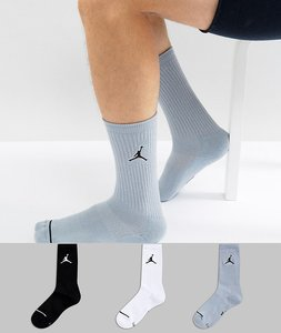Read more about Nike jordan 3 pack crew socks in multi colour sx5545-019 - multi