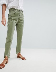 Read more about Mih jeans mimi high rise vintage slim jean with raw hem - nova green