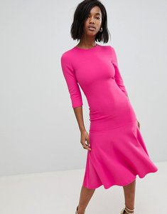 Read more about Club l kick flare scuba crepe dress - hot pink