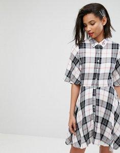 Read more about Mango check shirt dress - multi check