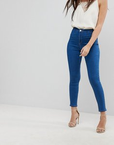 Read more about Missguided vice high waisted super stretch skinny jean - stonewash