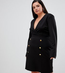 Read more about Unique 21 hero tailored dress with gold buttons
