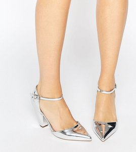 Read more about Asos speaker pointed heels - silver