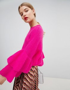 Read more about Essentiel antwerp fluffy frill jumper - jelly pink