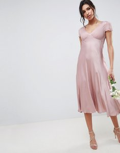 Read more about Ghost bridesmaid capped sleeve maxi dress - boudoir pink