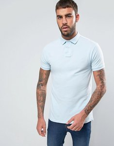 Read more about Polo ralph lauren pique polo slim fit polo player in light blue - coastal blue