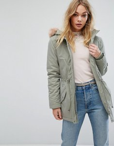 Read more about Oasis faux fur hooded parka coat - green