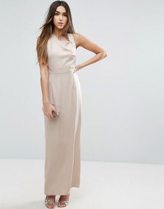 Read more about Asos open side square neck maxi dress - stone