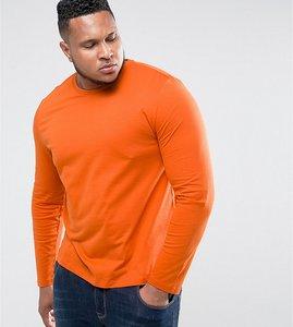 Read more about Asos plus long sleeve t-shirt in orange - basketball orange