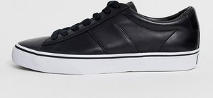 Read more about Polo ralph lauren sayer leather trainer polo player logo in black