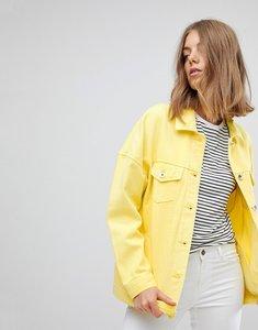 Read more about Vero moda coloured denim jacket - cream gold