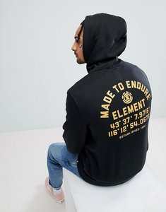 Read more about Element hub hoodie with back print - black