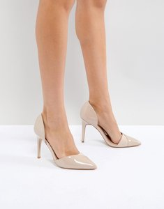 Read more about Miss kg two part perspex detail point high heels - nude micro perspex