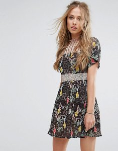 Read more about Foxiedox floral lace skater dress - kinsey print