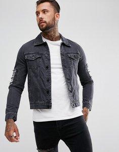 Read more about Hoxton denim denim jacket - black