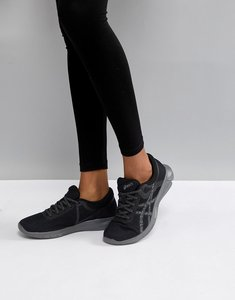 Read more about Asics running nitrofuze 2 trainers in black - black