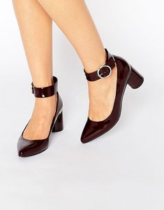 Read more about Asos sammy pointed heels - oxblood patent