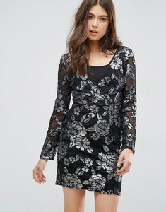 Read more about Little mistress shift metallic crossover dress - bandeau