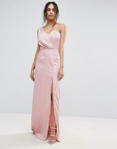 Read more about Missguided one shoulder maxi dress - pink