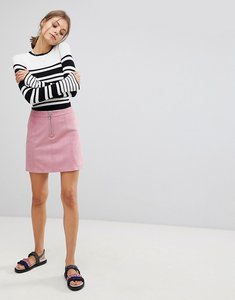 Read more about Esprit a line suedette mini skirt - pink