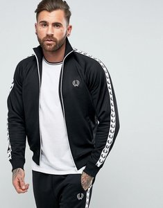 Read more about Fred perry sports authentic taped track jacket in black - black