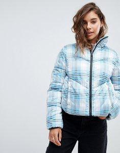 Read more about Asos design check puffer jacket - multi