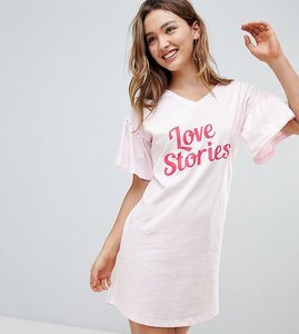 Read more about Hey peachy love stories ruffle sleeve night dress - pink