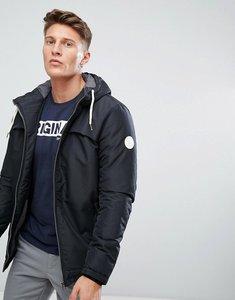 Read more about Jack jones padded jacket with fleece hood - black