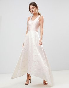 Read more about Coast pearl metallic maxi dress - soft pink off white