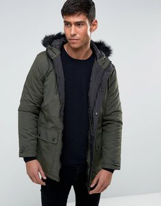 Read more about Tokyo laundry parka jacket with faux fur hood - green