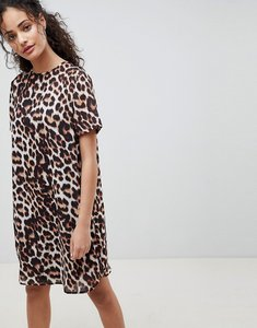 Read more about Asos design sheer shift mini dress in leopard print - animal print