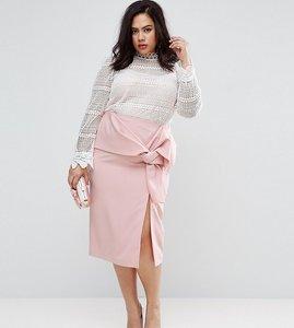 Read more about Coast plus lui bow detail pencil skirt - blush