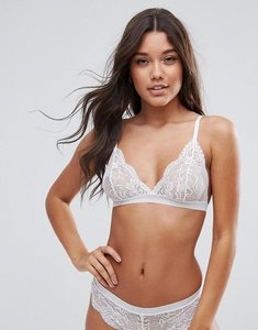 Read more about Asos ruby mix match picot trim lace triangle bra - white