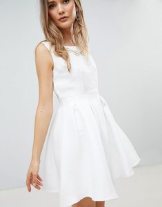 Read more about Zibi london structured skater dress - white