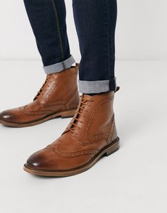 Read more about Kg by kurt geiger brogue boots - tan